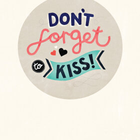 MICHELLE CARLSLUND - DON'T FORGET TO KISS 30X40 ILLUSTRATION