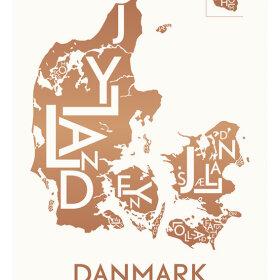 KORTKARTELLET - DANMARK - KOBBER - 50X70 CM