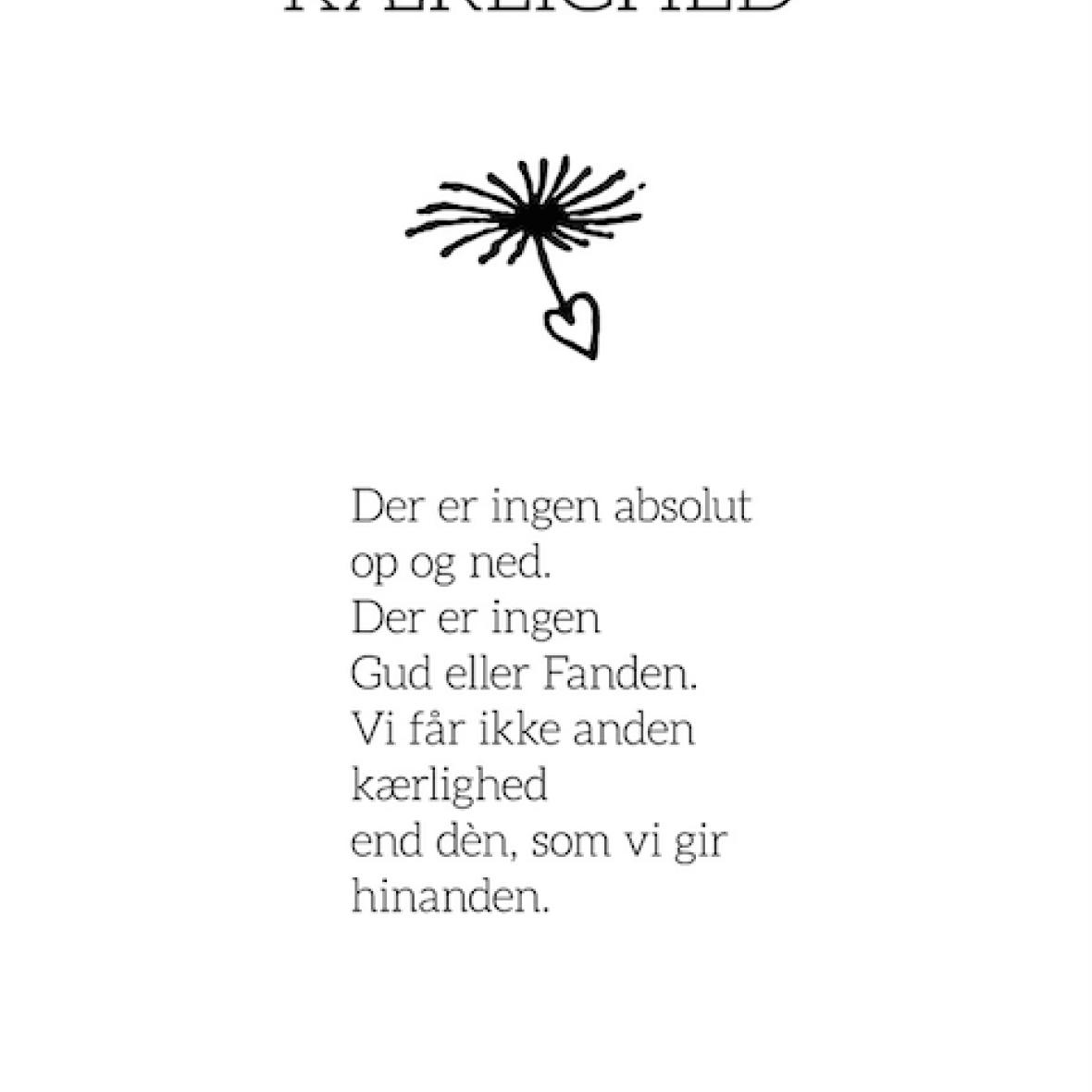 piet hein citater om kærlighed ILLUSTRATIONER / RAMMER   PIET HEIN   GRUK   30X40 KÆRLIGHED piet hein citater om kærlighed