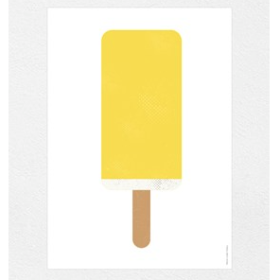 FROH UND FRAU - YELLOW POPSICLE 15x21 KORT