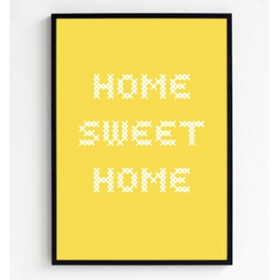 FROH UND FRAU - HOME SWEAT HOME 30x40 PLAKAT