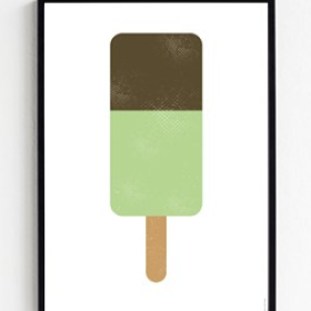 FROH UND FRAU - GREEN POPSICLE 50X70 PLAKAT