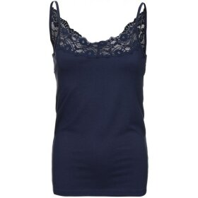 ONE TWO LUXZUZ - NAVY TOP M. BLONDEKANT