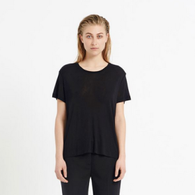 SAMSØE SAMSØE - SIFF SORT BASIC T-SHIRT