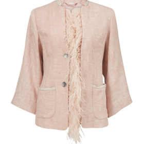f7224b3cbe96 GUSTAV - ROSA FEATHER JACKET