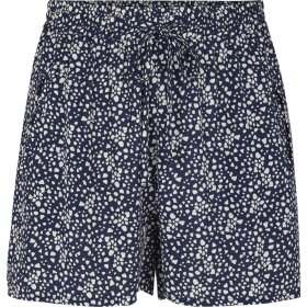 JUST FEMALE - GOBI SHORTS BLÅ, HVIDT MØNSTER