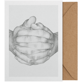 PAPER COLLECTIVE - FOLDED HANDS ART CARD A5