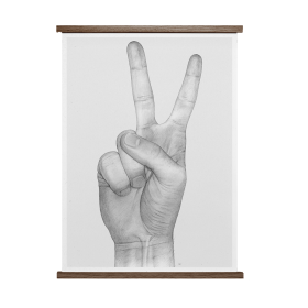 PAPER COLLECTIVE - V HANDS 50X70 PLAKAT