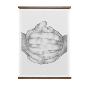 PAPER COLLECTIVE - FOLDED HANDS 50X70 PLAKAT