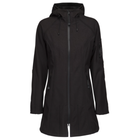 ILSE JACOBSEN - SORT RAIN 37 - 3/4 SOFTSHELL JAKKE