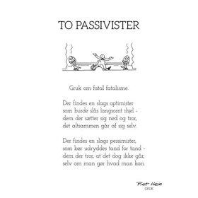 PIET HEIN - GRUK - TO PASSIVISTER - KORT