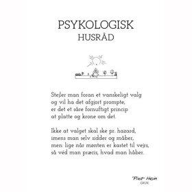 PIET HEIN - GRUK - 30X40 PSYKOLOGISK HUSRÅD