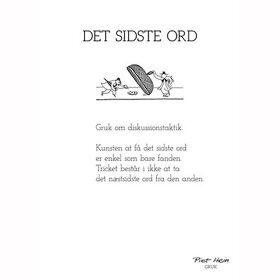 PIET HEIN - GRUK - 30X40 DET SIDSTE ORD