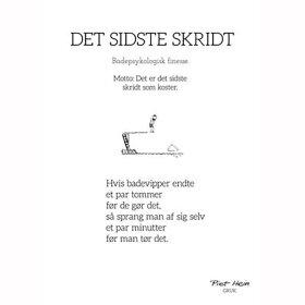 PIET HEIN - GRUK - 50X70 DET SIDSTE SKRIDT