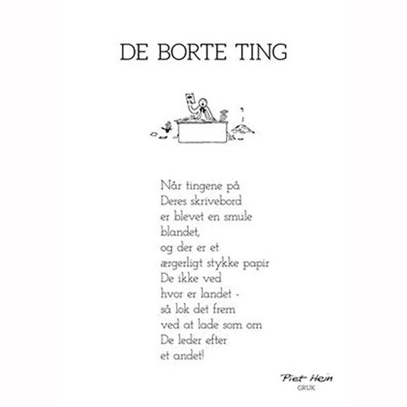 PIET HEIN - GRUK - 50X70 DE BORTE TING
