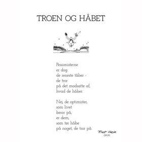 PIET HEIN - GRUK - KORT - TROEN OG HÅBET