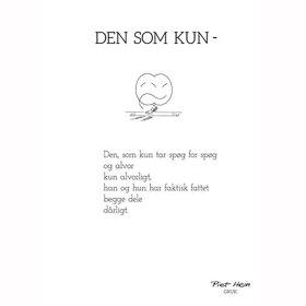 PIET HEIN - GRUK - 30X40 DEN SOM KUN