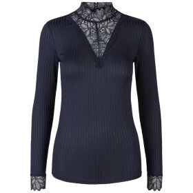 Y.A.S - NAVY YASBLACE BLUSE M. BLONDE