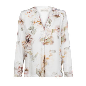 ONE TWO LUXZUZ - CREME BLUSE MED VINTAGE BLOMST
