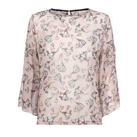 ONE TWO LUXZUZ - CHIFFON BLUSE M. BLOMSTER