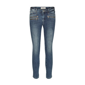 MOS MOSH - BERLIN ZIP 7/8 BLUEDENIM JEANS