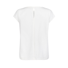 ONE TWO LUXZUZ - CANDIE BLUSE CREME KORT ÆRME