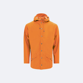 RAINS - FIRE ORANGE JACKET KORT UNISEX