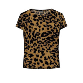 ONE TWO LUXZUZ - SORT/CAMEL KARIN T-SHIRT