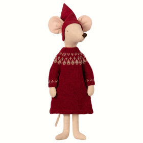 MAILEG - CHRISTMAS MOUSE,MAXI-GIRL