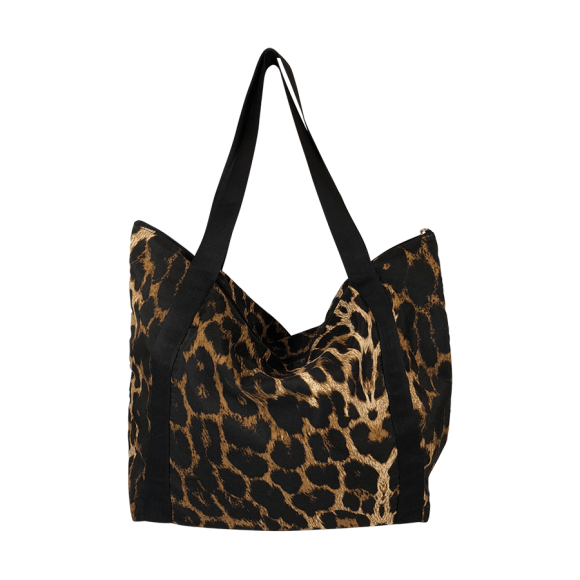 BLACK COLOUR - LEOPARD ALLY SHOPPER