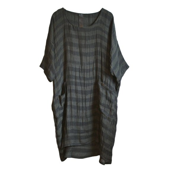 LISELOTTE HORNSTRUP - LINEN STRIPED DRESS