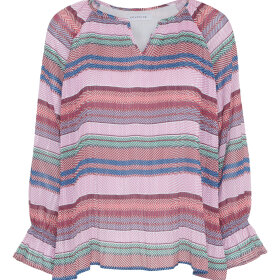 CONTINUE CPH ApS - PINK STRIBET BLUSE