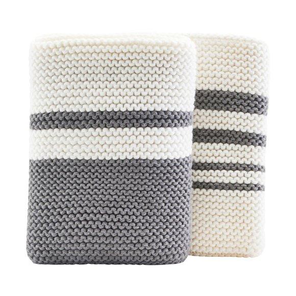 MERAKI - DISH CLOTH, ITE/GREY 2 PCS/PAC