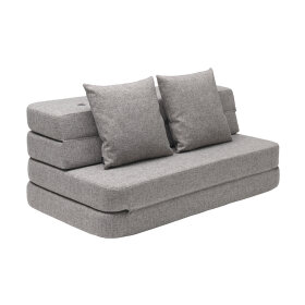 BY KLIPKLAP - KK 3 fold sofa XL soft - Multi grey w. grey
