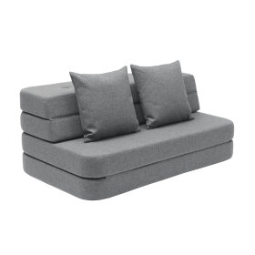 BY KLIPKLAP - KK 3 fold sofa XL soft - Blue grey w. grey