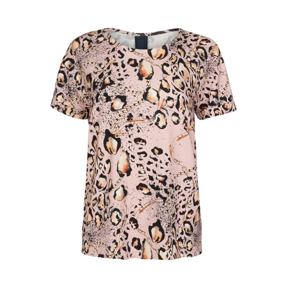 ONE TWO LUXZUZ - ROSA METALLIC KARIN T-SHIRT