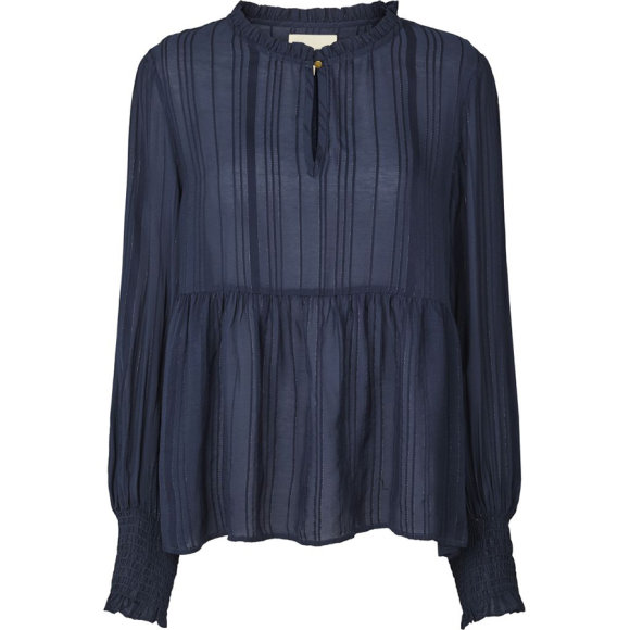 LOLLYS LAUNDRY - MAYA BLOUSE - DUSTY BLUE