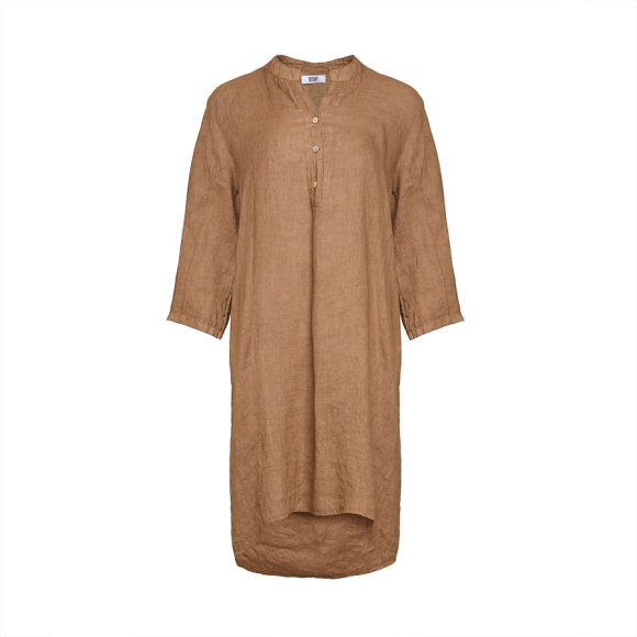 TIFFANY - Long Shirt, Camel, Linen