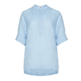 TIFFANY - Shirt, Light blue, Linen