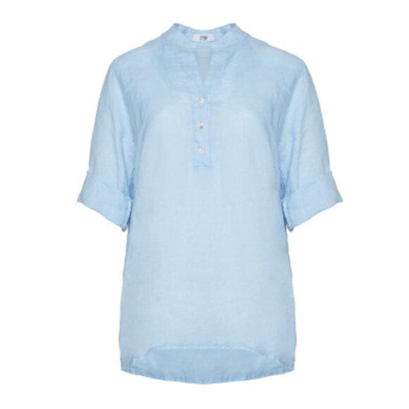 TIFFANY - Shirt, Light blue, Linen