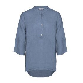 TIFFANY - Shirt, Jeans Blue, Linen