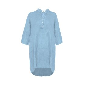 TIFFANY - Long Shirt, Light Blue, Linen