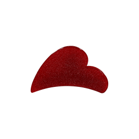 BLACK COLOUR - HEART HAIRCLIP RED