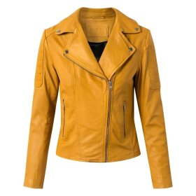 DEPECHE - BIKER JACKET - YELLOW