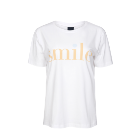 ONE TWO LUXZUZ - HVID SMILE T-SHIRT