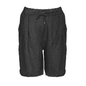 TIFFANY - SHORTS, BLACK, LINEN