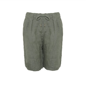 TIFFANY - SHORTS, ARMY, LINEN