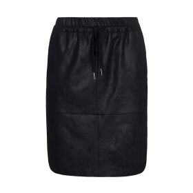 ONE TWO LUXZUZ - SORT MADELEINE COATED SKIRT