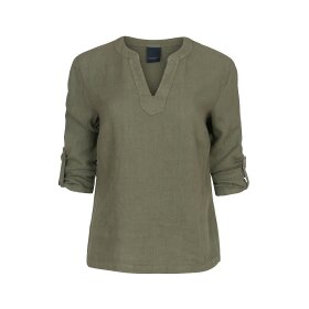 ONE TWO LUXZUZ - KISSER BLOUSE OLIVO
