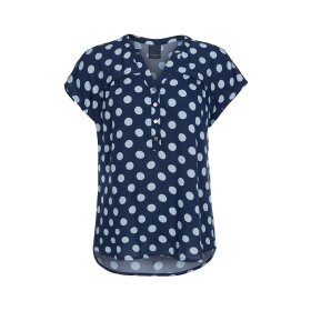ONE TWO LUXZUZ - NAVY DOT BOZENA BLUSE